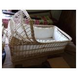 Old Wicker Bassinet with stand