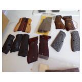 Misc lot of wooden Pistol grips