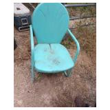Old outdoor Metal chair