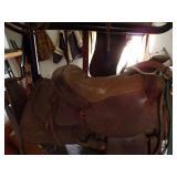 Leather Western Saddle-adult