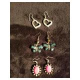 Lot of 3 pairs of earrings