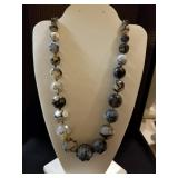 Big glass beaded necklace, very durable