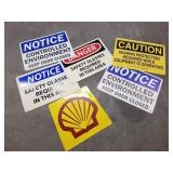 GROUP OF MISC PLASTIC SIGNS