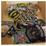 TRAY OF POLICE PATCHES