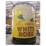 WHITE ROSE 5 GALLON OIL CAN