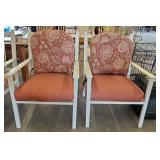 PAIR OF METAL OUTDOOR ARM CHAIRS