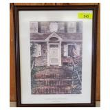 """""""SHARPLESS HOUSE"""" SIGNED AND NUMBERED 432/900"""