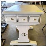 PAINTED AND DISTRESSED END TABLE