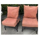 PAIR OF WROUGHT IRON PATIO CHAIRS