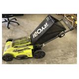 RYOBI 40V ELECTRIC MOWER, BATTERY AND CHARGER
