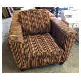 PAIR OF ARM CHAIRS SHOW WEAR