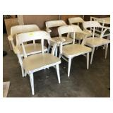 PAINTED AND DISTRESSED CAPTAINS CHAIRS (6)