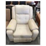 LEATHER TYPE ROCKING RECLINER SHOWS WEAR