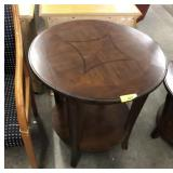 ROUND END TABLE INLAY TOP
