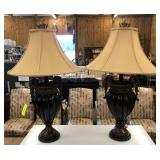 PR OF URN STYLE LAMPS