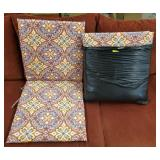 GROUP OF 6 CHAIR CUSHIONS