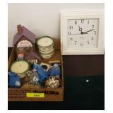 CLOCK, CANDLES, SALT/PEPPER, BIRDS, MISC