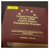 NOTEBOOK OF PRESIDENTIAL GOLD FOIL FIRST DAY