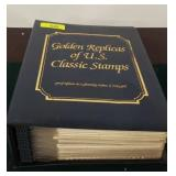NOTEBOOK OF GOLD FOIL FIRST DAY COVERS