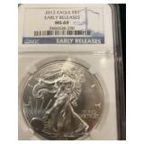 2012 EARLY RELEASE MS 69 SILVER EAGLE
