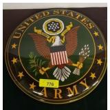 US ARMY METAL BUTTON SIGN