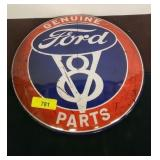 FORD V8 METAL BUTTON SIGN