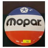 MOPAR METAL BUTTON SIGN