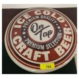 CRAFT BEER METAL BUTTON SIGN