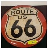 ROUTE 66 METAL BUTTON SIGN