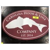 CAROLINA HOOK AND LINE CO SIGN DOUBLE SIDED