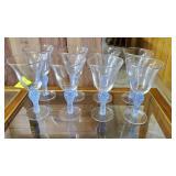 GROUP OF 7 STEMWARE GLASSES