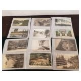 TRAY: OLD POSTCARDS