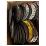 BOX OF MISC GRINDING WHEELS