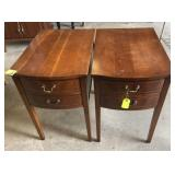 PR CHERRY COLUMBIA 2-DRAWER END TABLES