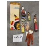 CARVED NATIVE AMERICAN FIGURES