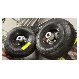 PAIR OF PNEUMATIC HAND TRUCK TIRES