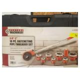 CENTRAL MACHINERY 10 PC RATCHETING PIPE THREADER
