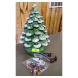 """PORCELAIN/CERAMIC CHRISTMAS TREE 19"""""""