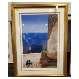 GREEK ISLAND WATERCOLOR SIGNED AND NUMBERED PRINT