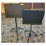 PAIR OF SHEET MUSIC STANDS AJUSTABLE