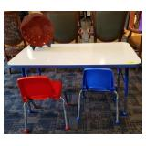 KIDS CHAIRS AND SCHOOL TABLE