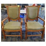 PAIR OF AC FURNITURE UPHOLSTERED ARM CHAIRS