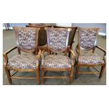 (3) AC FURNITURE UPHOLSTERED ARM CHAIRS