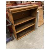 3-SECTION BARRISTER BOOKCASE W/ GLASS