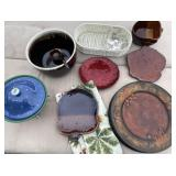 MISC GLASSWARE, PLATE CHARGERS, BOWL