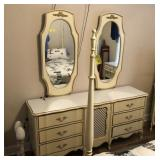 FRENCH PROVINCIAL DRESSER WITH 2 MIRRORS