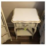 2 FRENCH PROVINCIAL BEDSIDE TABLES