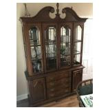 LEXINGTON CHINA CABINET WITH CONTENTS