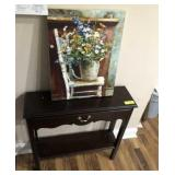 SMALL HALL TABLE 1 DRAWER, PICTURE