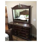 SUMTER TRIPLE DRESSER WITH BEVELED MIRROR